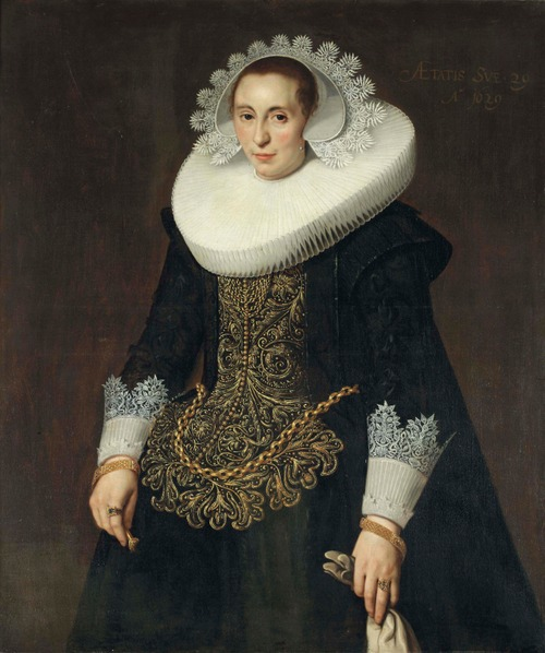 """Фото. Николас Элиас  Пикеной  (1588-ок1655) """"Женский портрет"""", 1632 г., Музей Гетти"""