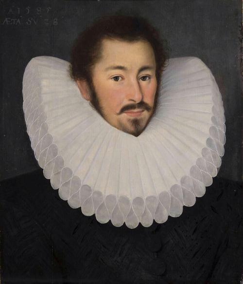 "Фото. John Bettes ""Портрет джентльмена в воротнике раф"". 1585 г."
