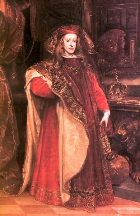 """Фото. , Хуан Карреньо де Миранда   """"Портрет Карла II в облачении магистра Ордена Золотого Руна"""", 1677 г."""