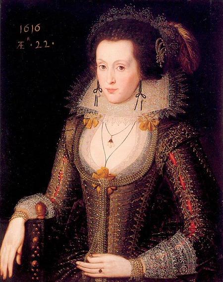 """Фото. Роберт Пик """"Портрет Элизабет Пуле"""", 1616 г."""
