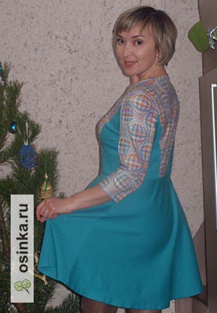 Фото. Платье из итальянского джерси. Автор работы - Елена весенняя