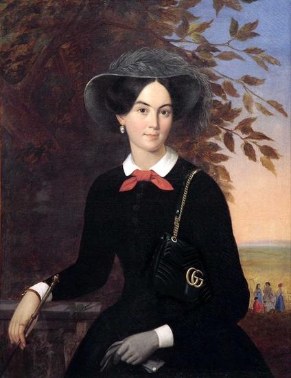 """Фото. Плюшар Е. А.(1809-1880) """"Портрет К. К. Долголовой""""."""