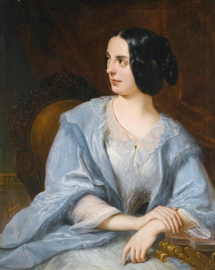 """Фото. Плюшар Е. А.(1809-1880) """"Портрет актрисы Веры Самойловой""""."""