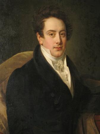"Фото. Бенуа-Шарль Митуар ""Портрет графа Л. С. Потоцкого"" (1820-е годы)."