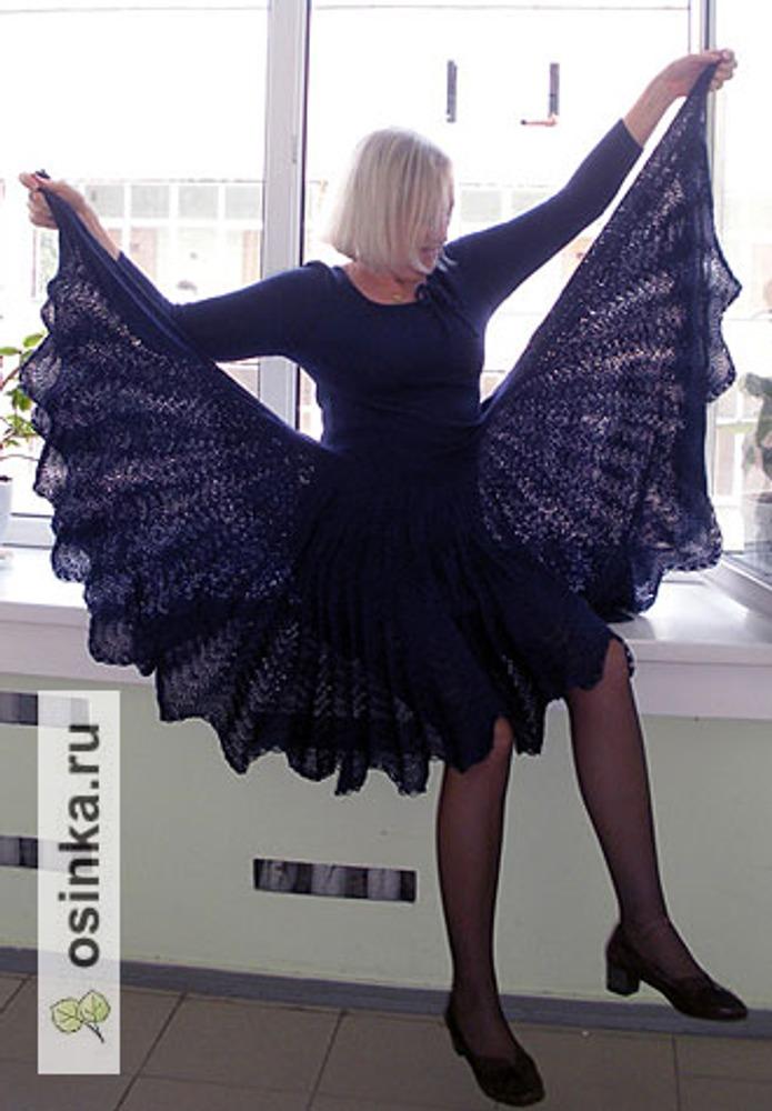 """Фото. Узор - всем известные """"павлиньи перья"""", вариант от салфетки.  Автор работы - Cbeta"""