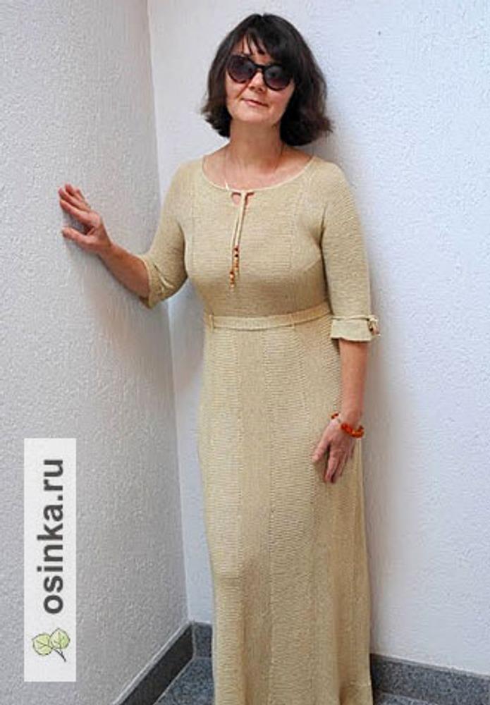 Фото. Бледное песчаное платье. Автор работы - Virina1