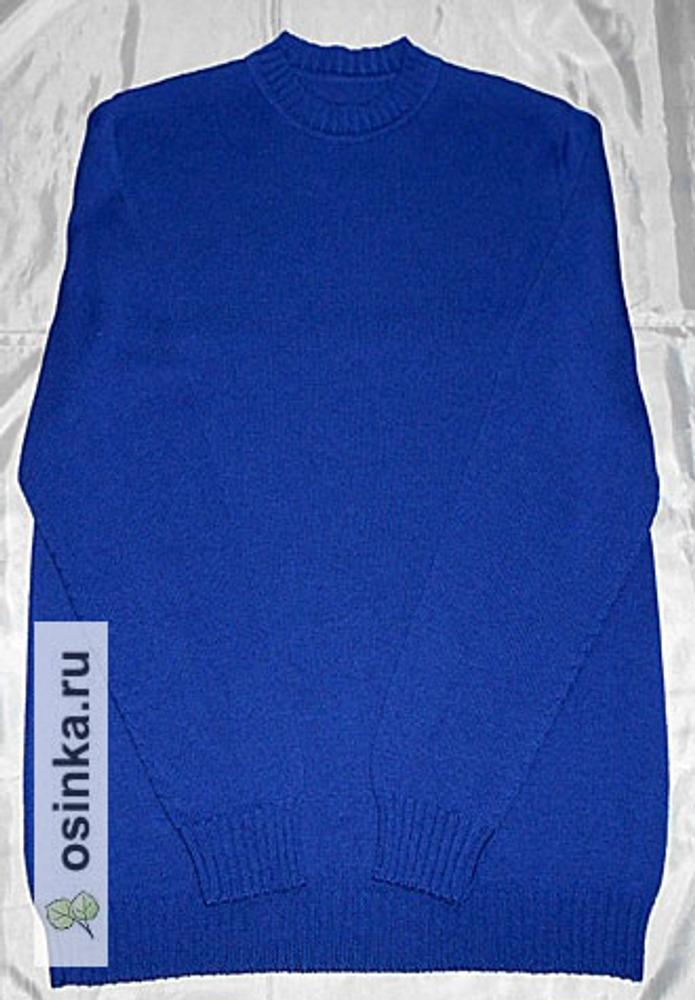 Фото. Мужской пуловер,размер и рост большой, пряжа итальянский сток кашемир с мериносом.  Автор работы - tina65