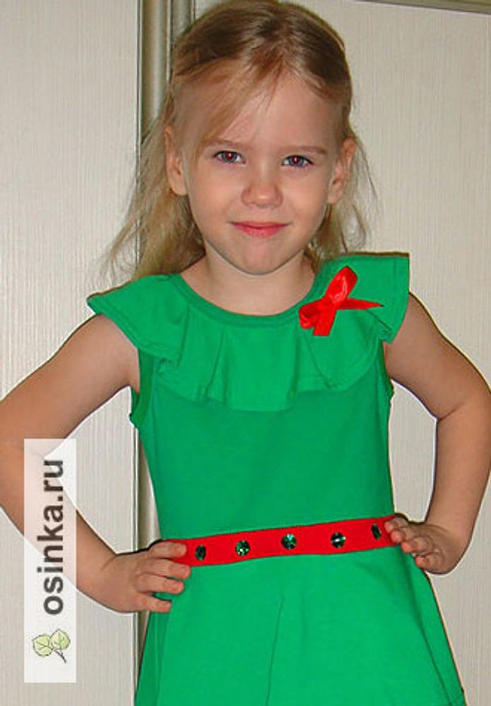 Фото. Платье, оно же костюм елочки для новогоднего утренника. Автор работы - Hich