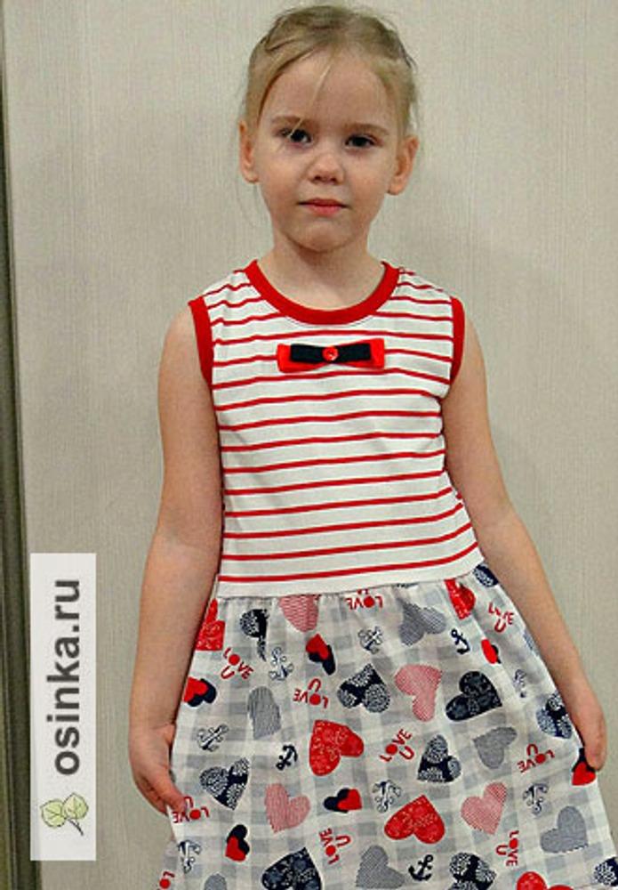 Фото. Еще одно платье из отрезов трикотажа. Автор работы - Hich