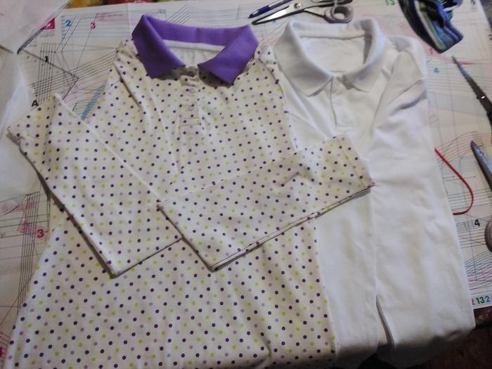 Фото. Поло для дочки и сына - также отличная замена блузке и рубашке.    Автор работы - reyenira