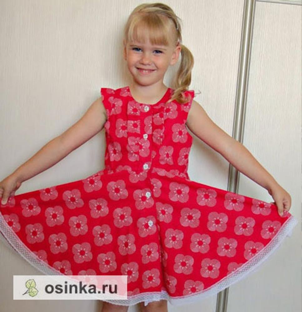 Фото. Летнее платье из итальянского хлопка.Автор работы - Hich
