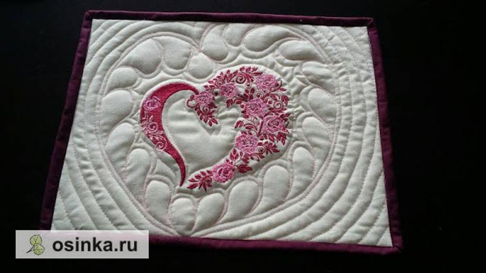 Фото. Салфетка на День Святого Валентина.  Автор работы - ponchik77