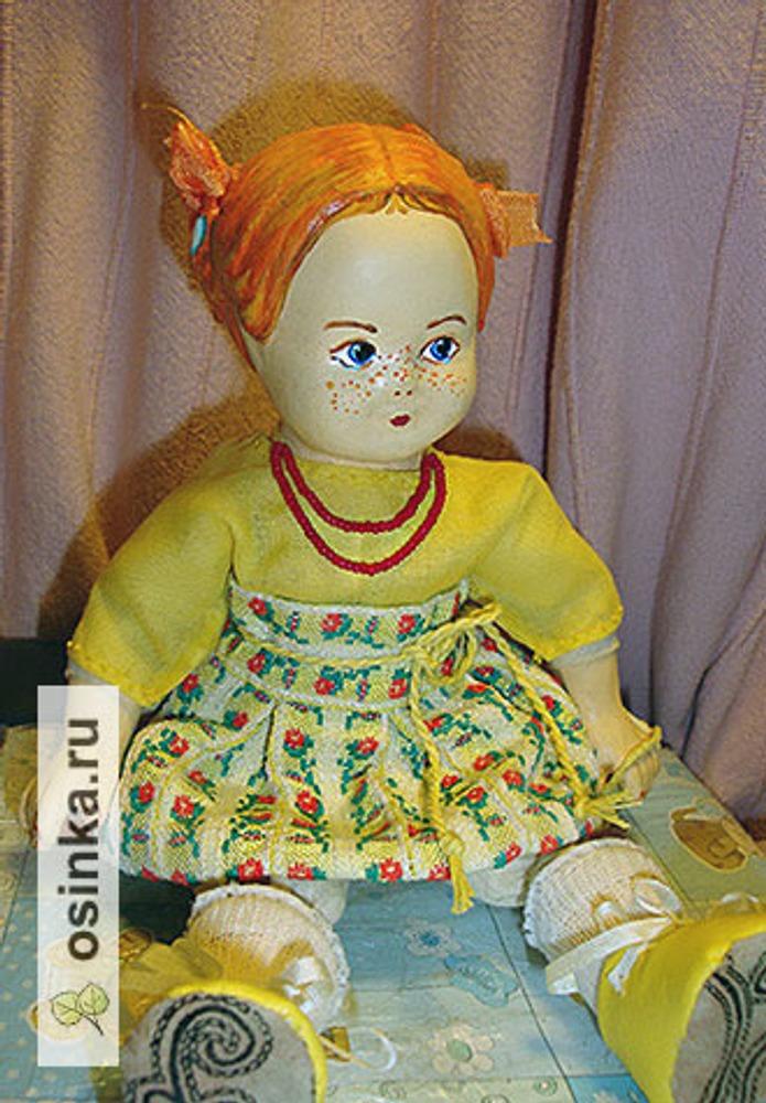 Фото. Кукла  Помм сшитая по старинной технологии. Папье-маше, ткань.  А автор работы - SorY