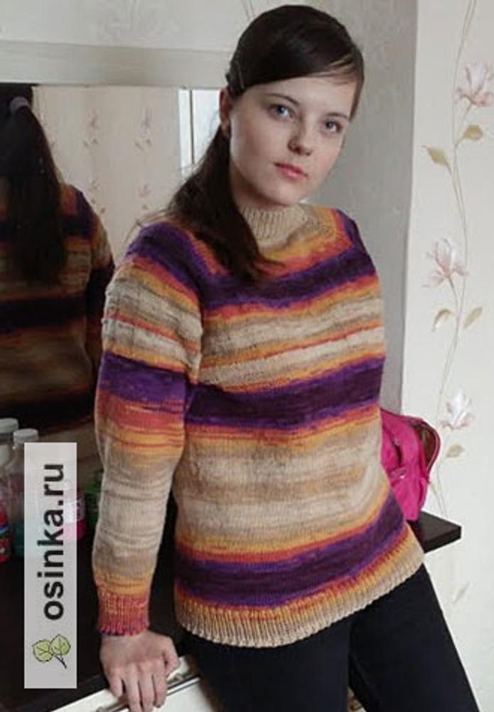 Фото. Довязался доче свитерок. Это кашмир, 100% шерсть. Автор работы - Ласковое солнышко