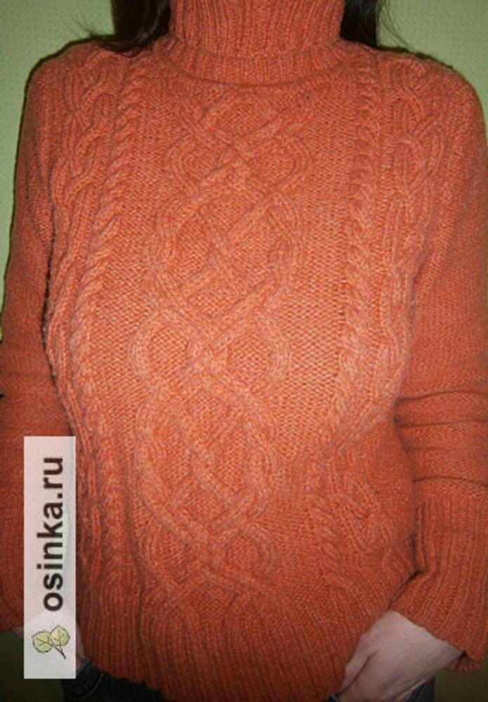 Фото. Пуловер из Philda. Пряжа Shetland, 100% шерсть.  Автор работы - Рикк