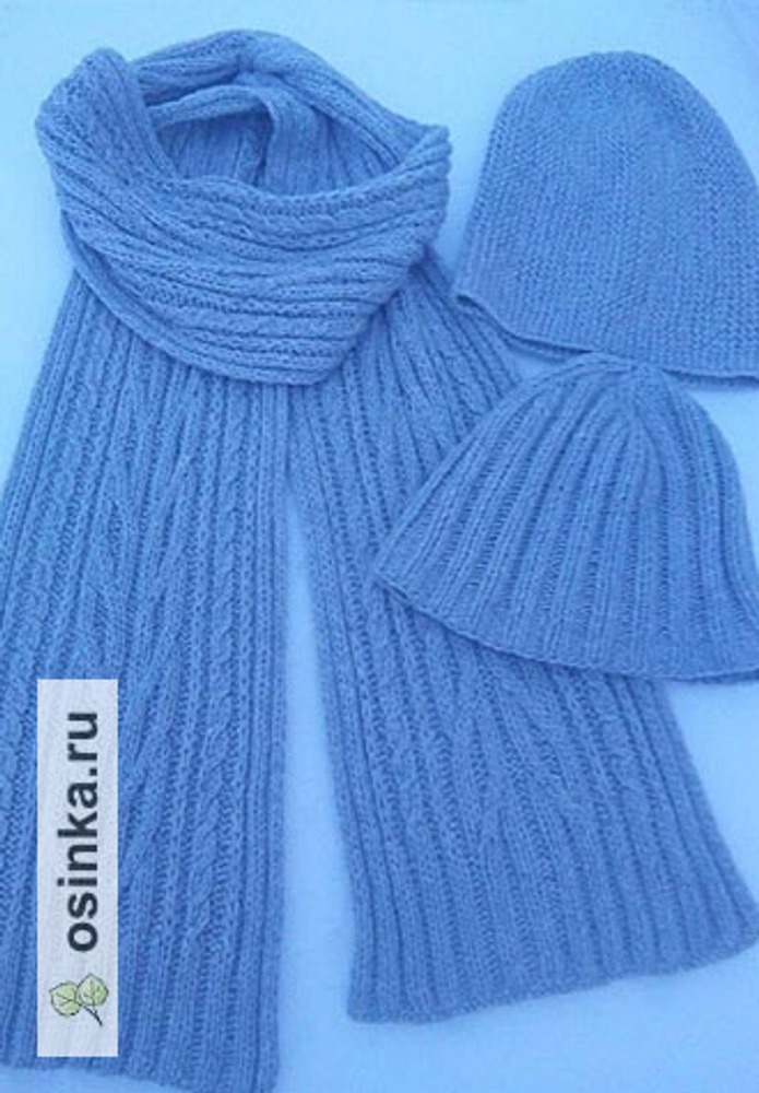 Фото. Шапочки и шарф для сына. Пряжа итальянский сток. Автор работы - L&Mb