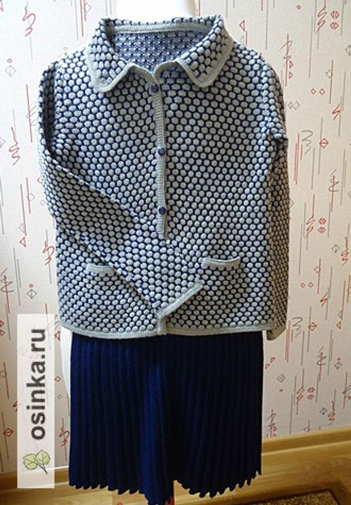 Фото. Костюм для школьницы: жакет и юбочка плиссе. Автор работы - усинка