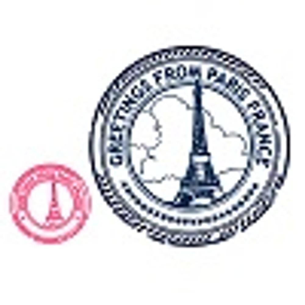 ШТАМП ПАРИЖ, коралл,201х201 мм 80х80 мм,цена 40 рублей за 1шт