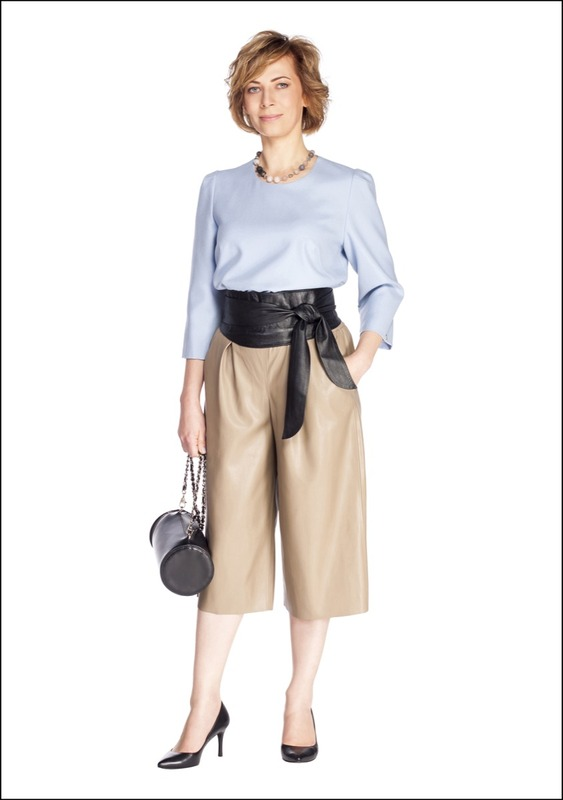 Комплект №3 . Топ и сумка – Simple. Кюлоты – Zara. Туфли – Danija