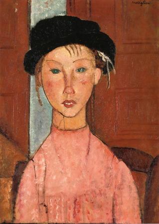 """Фото. Амедео Модильяни """"Молодая девушка в берете"""", 1918 г."""