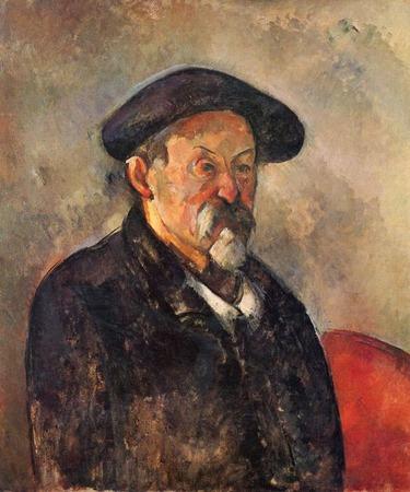 """Фото. Поль Сезанн """"Автопортрет в берете"""", 1900 г."""