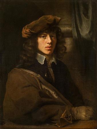 """Фото. Рембрандт Харменс ван Рейн (мастерская) """"Портрет молодого человека в берете"""", 1640 г."""