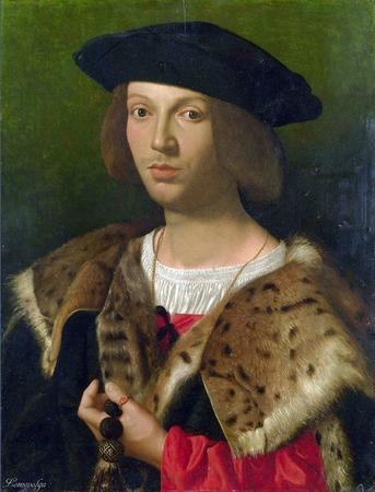 """Фото. Итальянская школа """"Портрет молодого человека"""", 1518 г., London, National Gallery."""