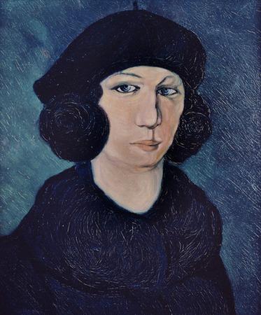 """Фото. Пабло Пикассо """"Женщина в синем берете"""", 1903 г."""