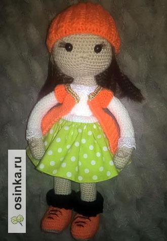 Фото. Первая вязаная Куколка. Автор работы - Никуська