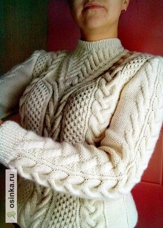 Фото. Стильный свитер! Автор работы - bespaltasha
