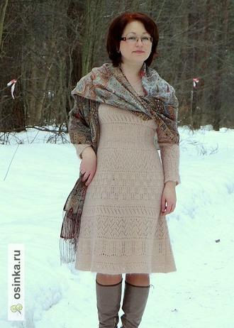 Фото. Платье с обложки журнала Верена весна 2014.  Автор работы - Fialka_k