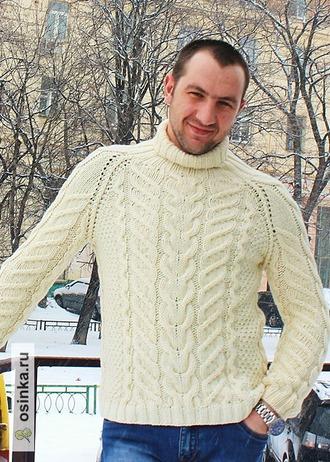 """Фото. """"Добрый свитер"""" ручная работа.  Автор работы - Наталья Спасибочкина"""
