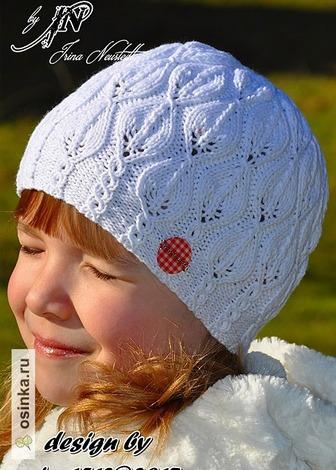 """Фото. Ажурная шапочка """"Snowdrop"""" (подснежники).   Автор работы - miss1512"""