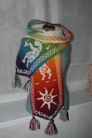 Фото. Капюшоно-шарф двухсторонним жаккардом.  Автор работы - wildwoman