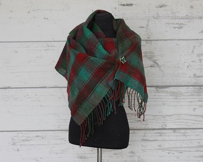 Фото. Tartan - тканый шарф из дундаги. Автор работы - fire82