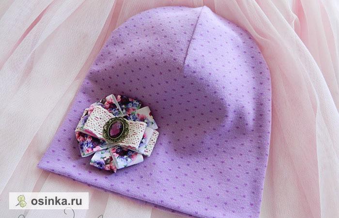 Фото. Трикотажная шапочка для девочки.  Автор работы - -=Маринка=-