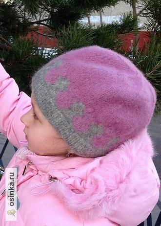 Фото. И в розовом цвете. Внутри обеих шапочек -  флисовый подклад.  Автор работы - Музыка_ветра
