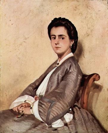 """Фото. Giovanni Fattori """"Ritratto della cugina Argia"""", 1861 г."""