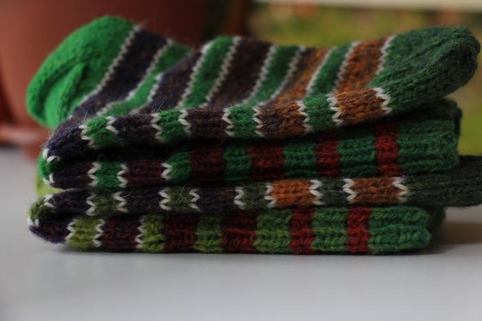 Фото. Носки из остатков дундаги.   Автор работы - tatmalitskaya