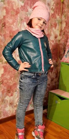 Фото. Модная куртка из кожзама, шапка и снуд. Автор работы - Oxana1980