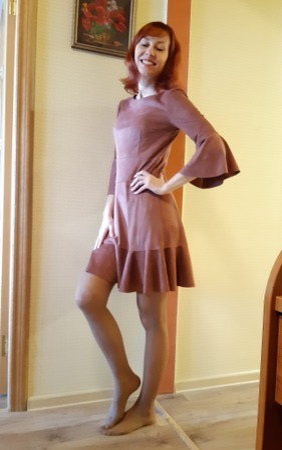 Фото. Платье из замши.   Автор работы - IvlevaAnna