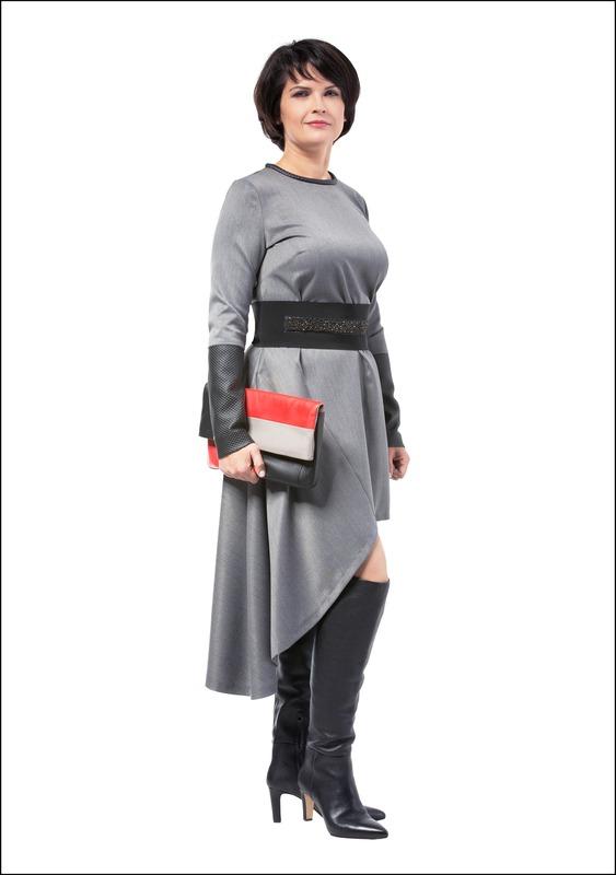 Комплект №2 . Платье – Nolo. Ботфорты – Este. Клатч – Karen Millen