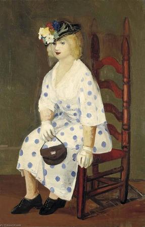"""Фото. Джордж Лакс, """"Платье в горошек"""" 1927 г.  (Smithsonian American Art Museum (United States)."""