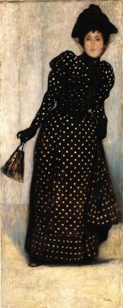 """Фото. Йожеф Риппл-Ронаи """"Женщина в платье в горошек"""", 1892 г."""