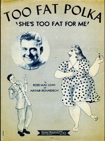 """Фото. Обложка нотного сборника """"Too Fat Polka"""" Росс Мак Лин и Артур Ричардсон, 1947"""