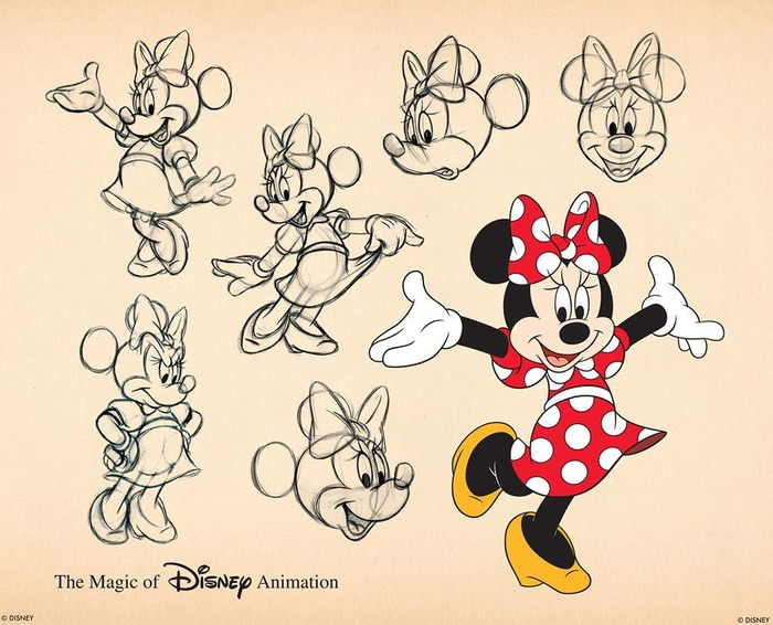 Фото. Minnie Minerva Mouse Disney concept art.