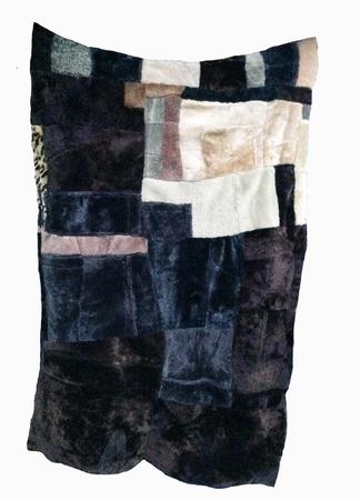 Фото. Одеяло из дубленок.    Автор работы - larissaherisson