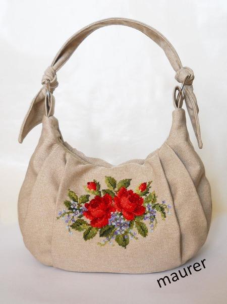 Фото. Весенняя сумка с вышивкой. Автор работы - maurer