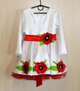 Фото. Платье для девочки-маковки. Автор работы - Лапитоша
