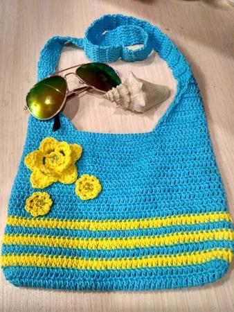 Фото. Все на пляж! Вязанная сумочка для девочки модницы.  Автор работы - belajoxana
